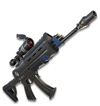 Laser Tag Scoped Assault Rifle