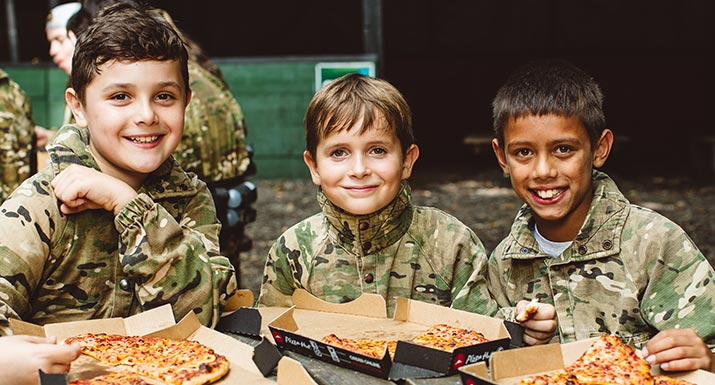 free pizza for laser tag games in london