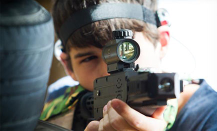 Laser Tag in London weapon scope